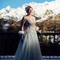 Eine glamouröse Winterhochzeit in Sils-Maria