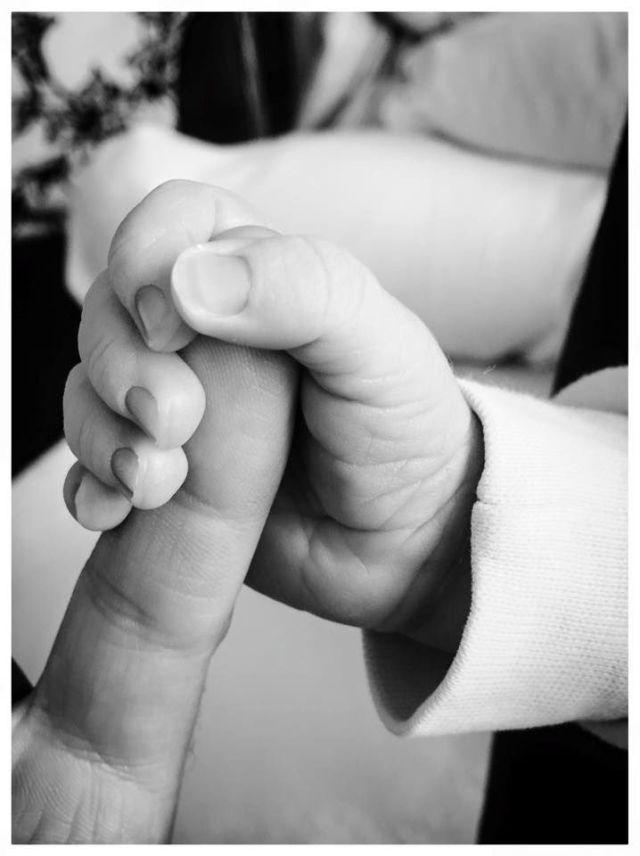 Hand Neugeborenes Liebe Spital Geburt Baby