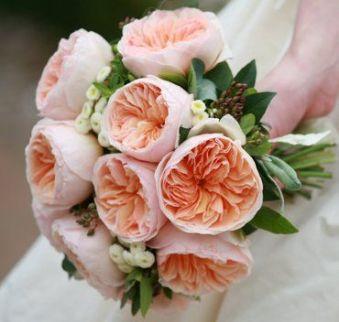 Brautstrauss David Austen Rosen Englische Peach Inspiration