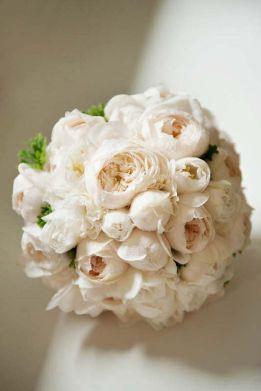 Brautstrauss weiss elegant Inspiration Englische Rosen David Austen Tulpen