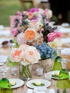 Englische Rosen Tischdeko Vintage elegant Hochzeit Inspiration