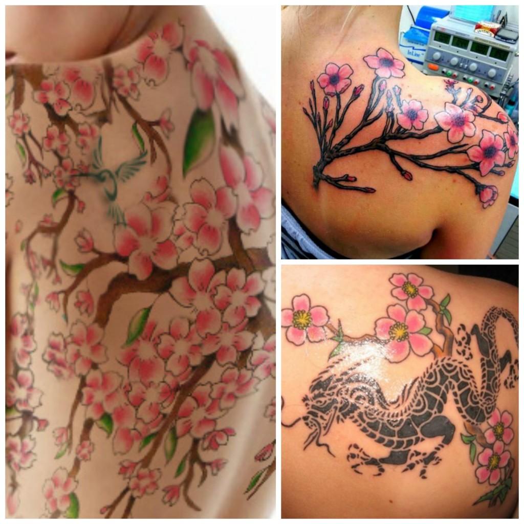 Un Air De Printemps Japonais Avec Un Tatouage De Fleurs De Cerisier Mademoiselle Web