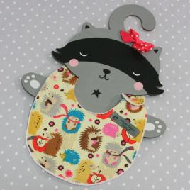 Bavoir bébé 0/8 mois thème hérisson