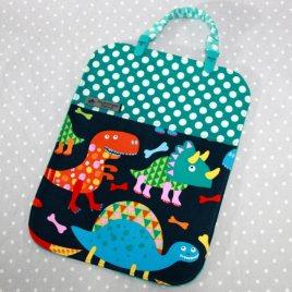 Bavoir bébé / Serviette de table pour enfant + clip attache doudou/ bavoir thème Dinosaure