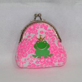 "Porte-monnaie retro thème  ""princesse grenouille"""