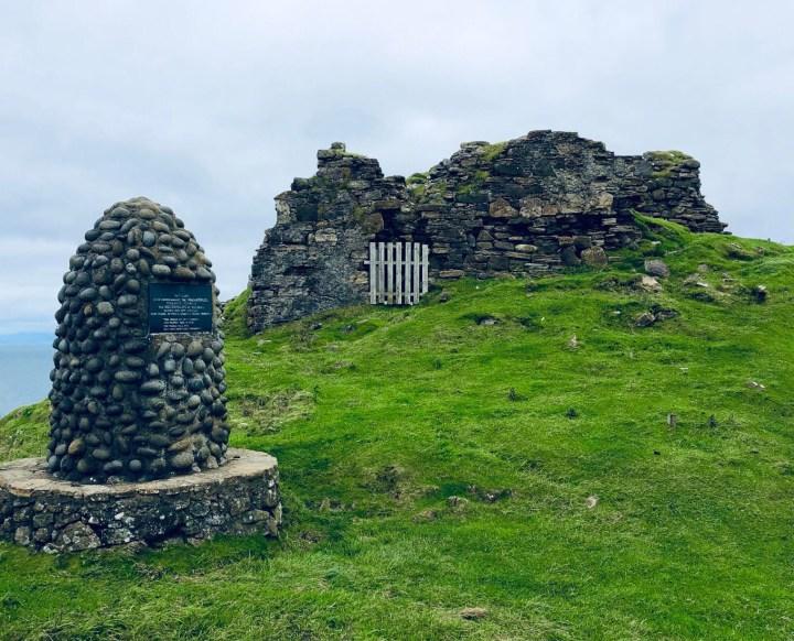 Isola di Skye: i pochissimi resti di Duntlum Castle