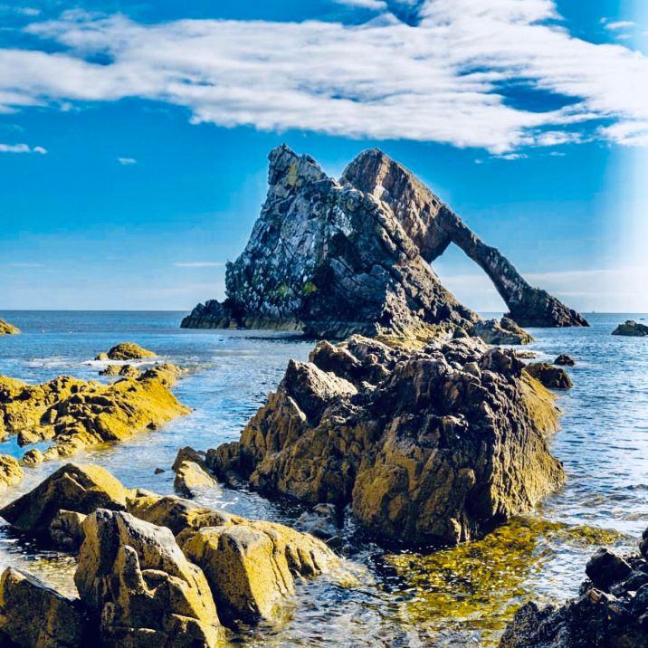 Portknockie: Bow Fiddle Rock originale formazione rocciosa