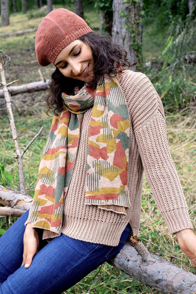 Pull, écharpe, béret en lin. La Révolution Textile, marque éco responsable. Mademoiselle Coccinelle, blog mode éthique