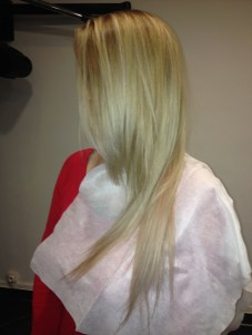 balayage blonde et patine