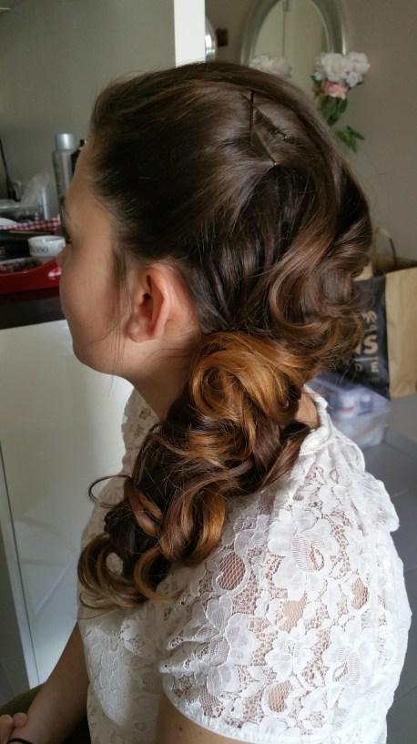 Vintage hair coiffure mariée