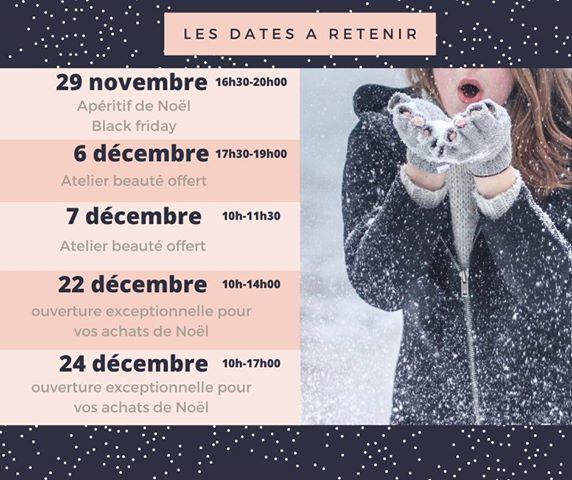 Les dates à retenir chez votre esthéticienne