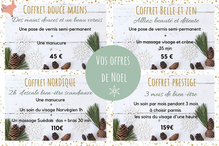 Les offres bons cadeau de Noël chez Mademoiselle Enaelle