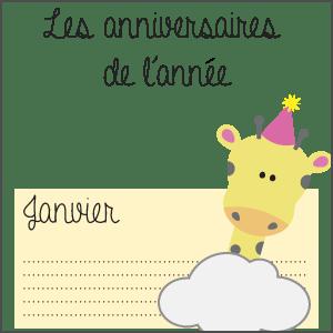 Bonne résolution : ne plus oublier les anniversaires! (Calendrier à télécharger)
