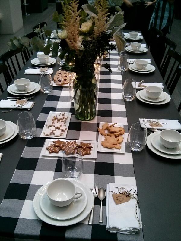 table noël noir et blanc