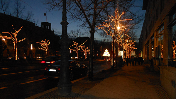 Les illuminations sur Under der Linden