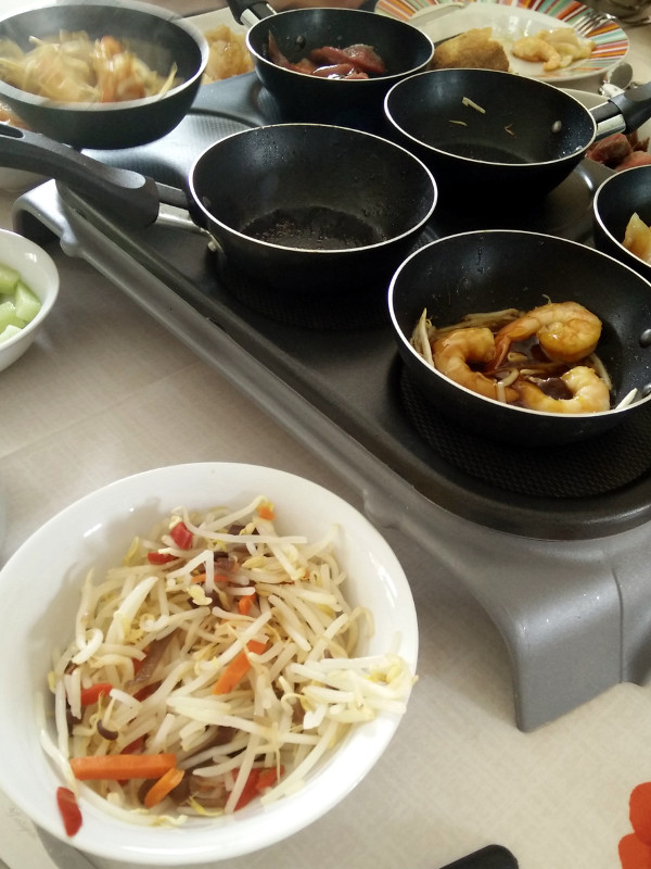 wok sur crêpe party