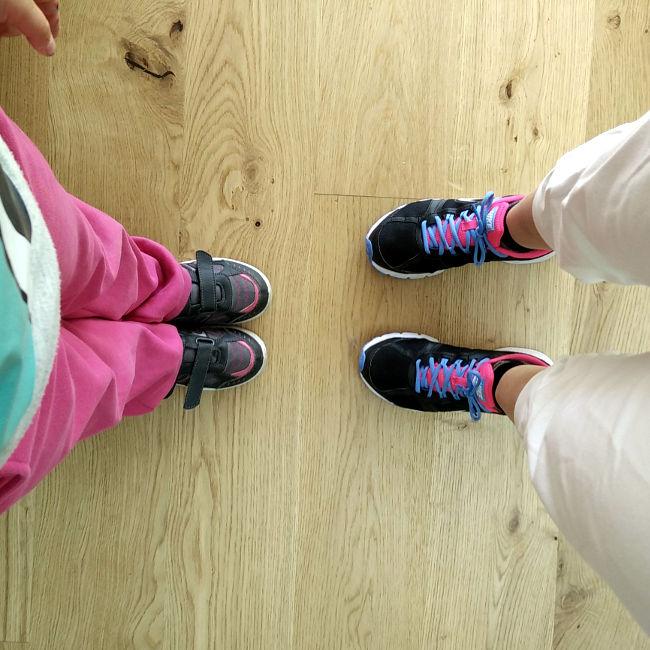 courir avec sa fille