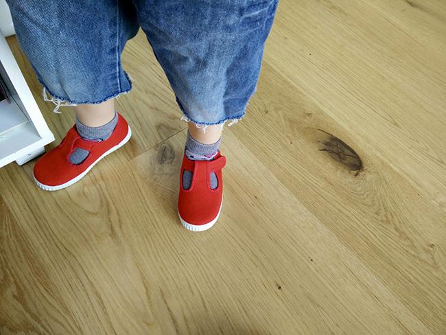 chaussures rouge garçon