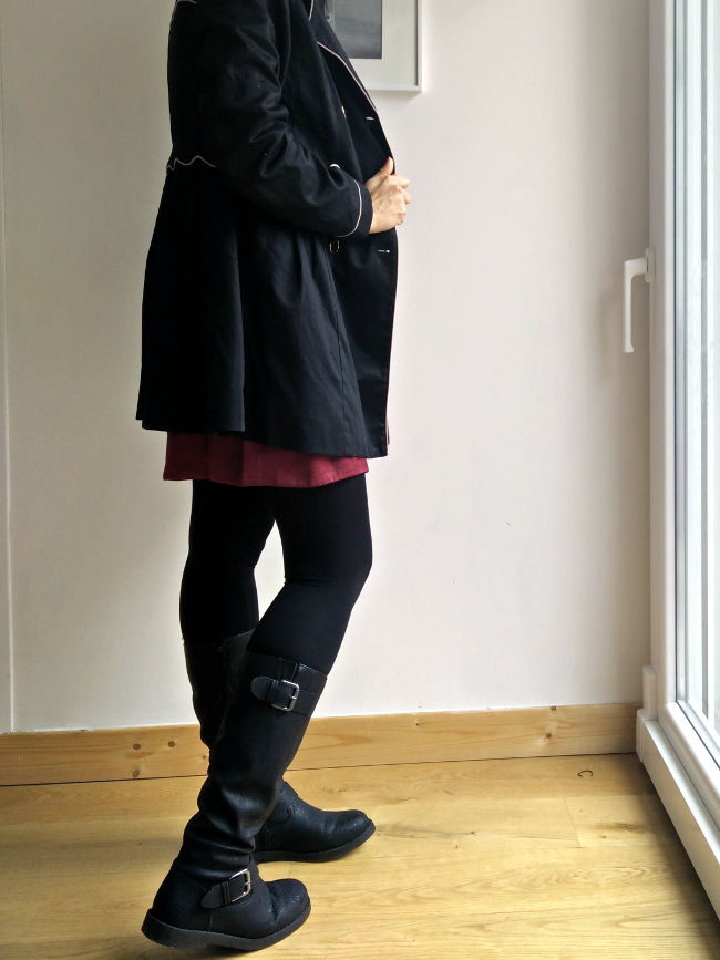 trench noir taille 38