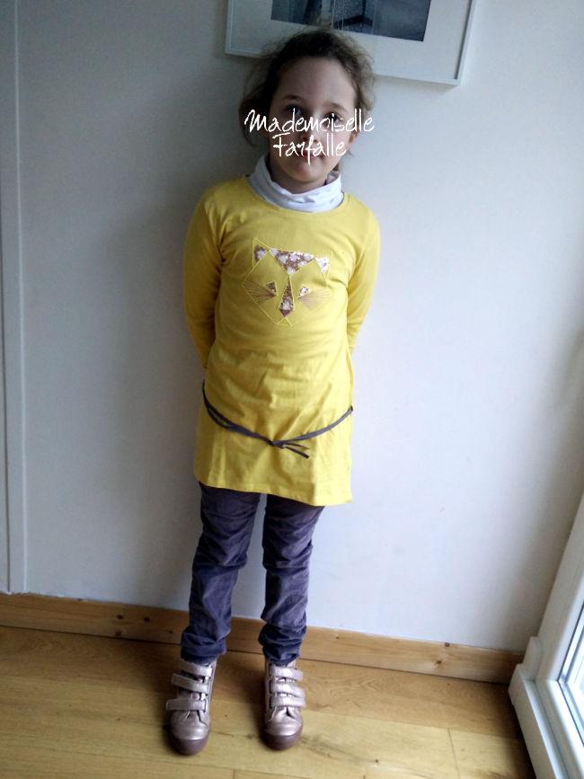 Tunique Tape à l'oeil jaune