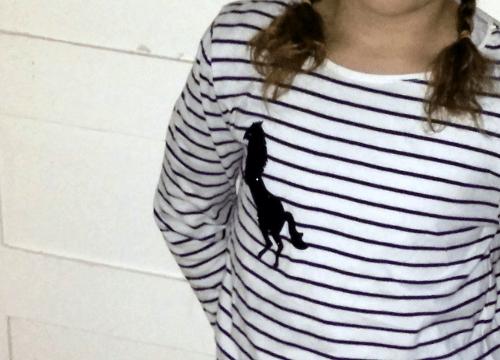 t-shirt manches longues rayé