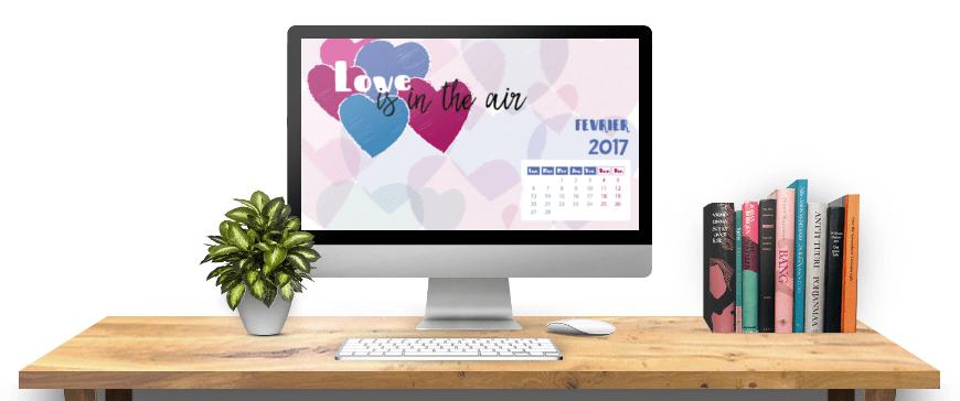 calendrier février 2017 à imprimer