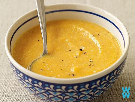 Soupe de patate douce au miel
