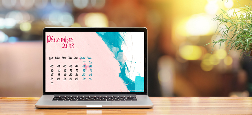 Calendrier et fonds d'écran de décembre 2018 à télécharger