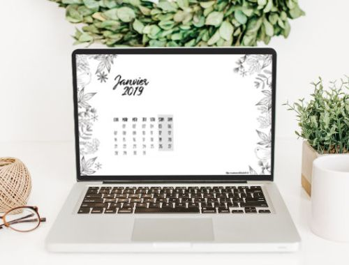 calendrier de janvier 2019 à imprimer