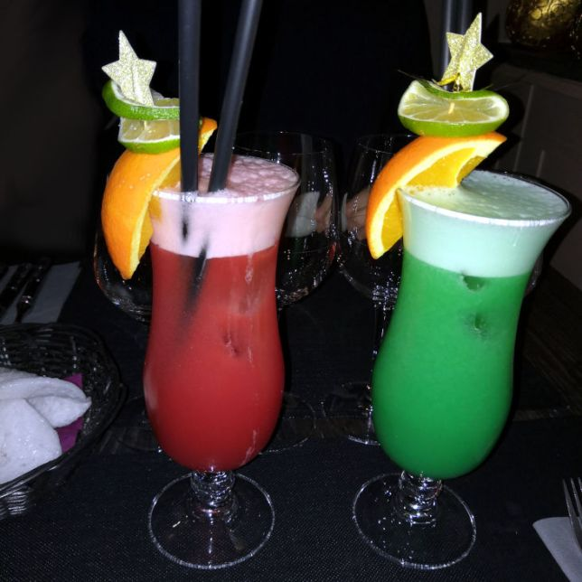 cocktails colorés
