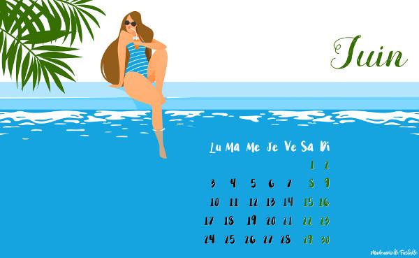 calendrier juin 2019 à télécharger