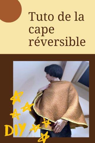 tuto cape réversible