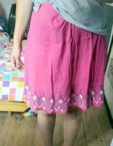 jupe à partir d'une robe d'enfant
