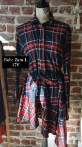 Robe carreaux Zara