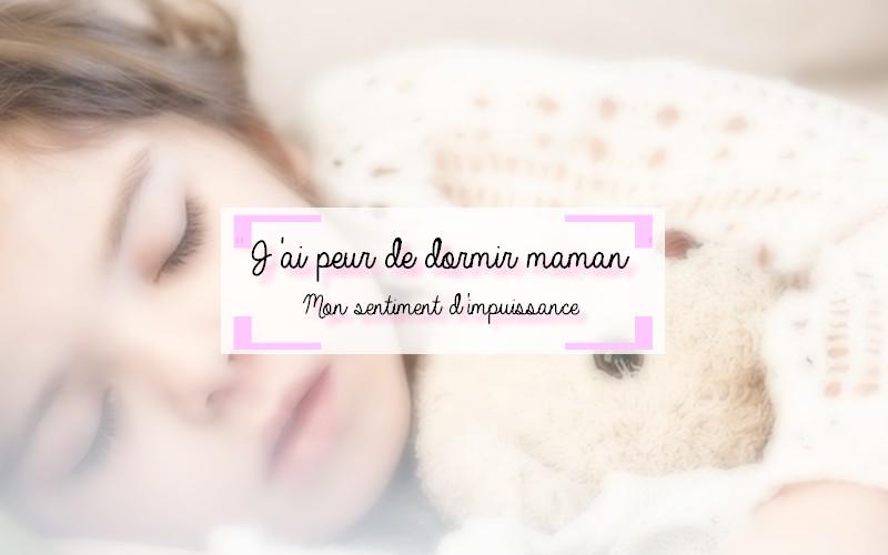 Peur de dormir enfant