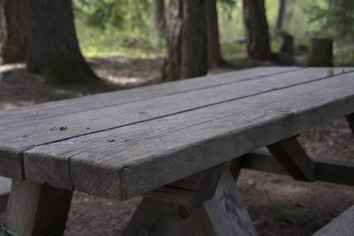 table pique nique jardin