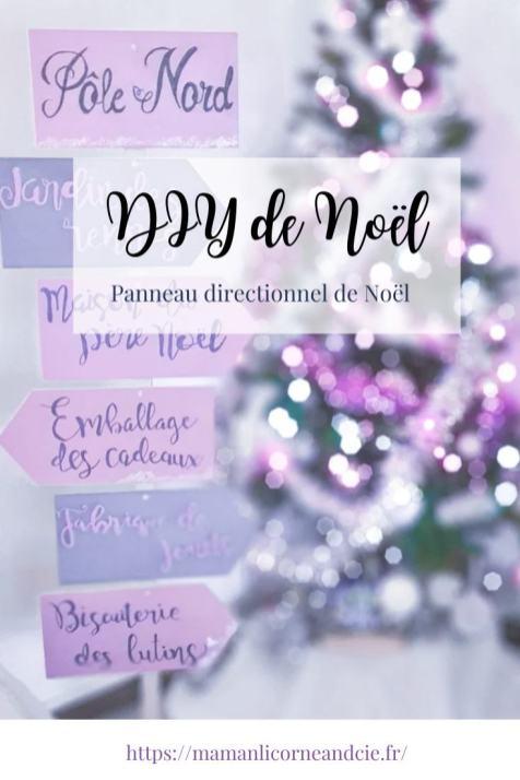 Panneau direction Noël Pinterest