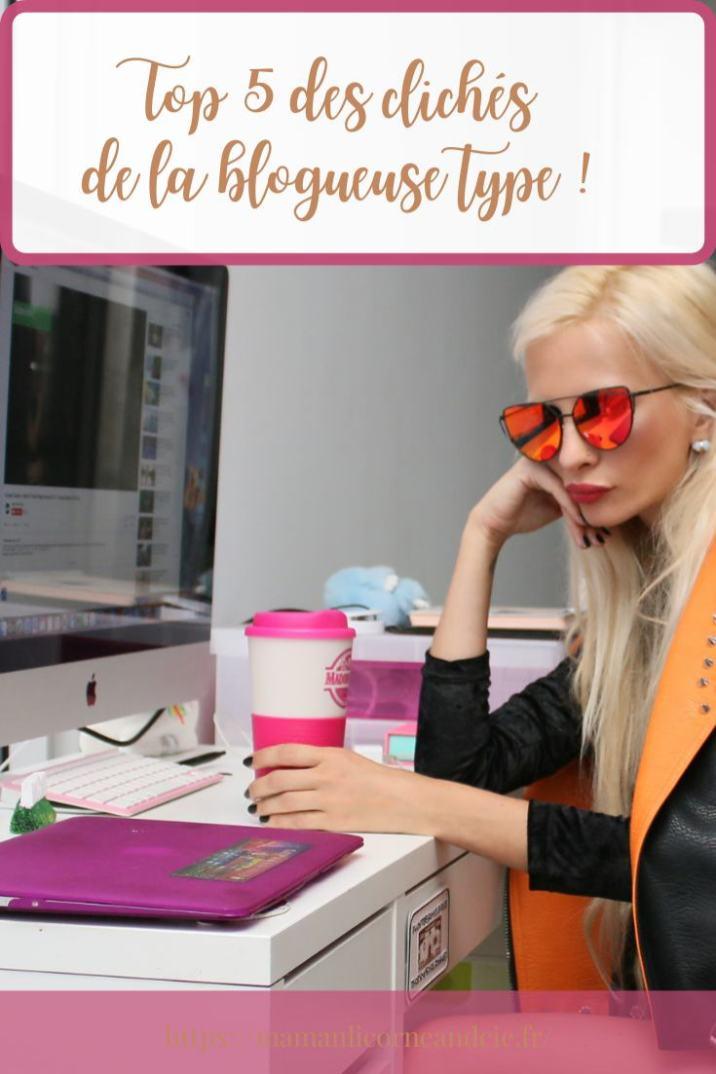 Clichés de la blogueuse type