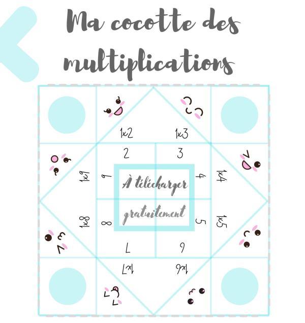 Cocottes des multiplications à imprimer gratuitement