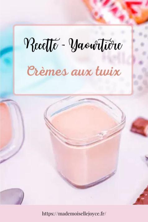 Crèmes desserts aux Twix à la yaourtière