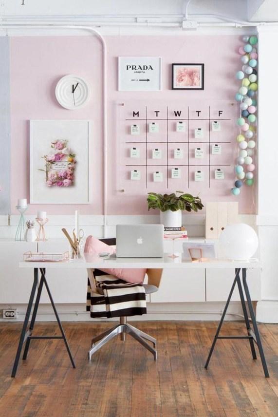Idées bureau pour femme rose