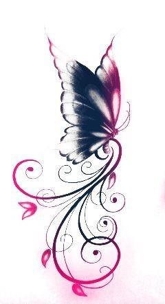 Idées tatouage cuisse femme dessin papillon