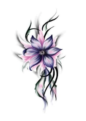 Idées tatouage cuisse femme fleur dessin