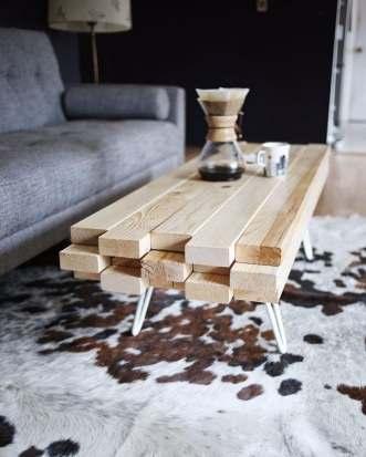 Idées de table basse à réaliser avec des palettes de bois