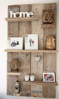 Les plus jolies créations en palettes de bois, étagère murale