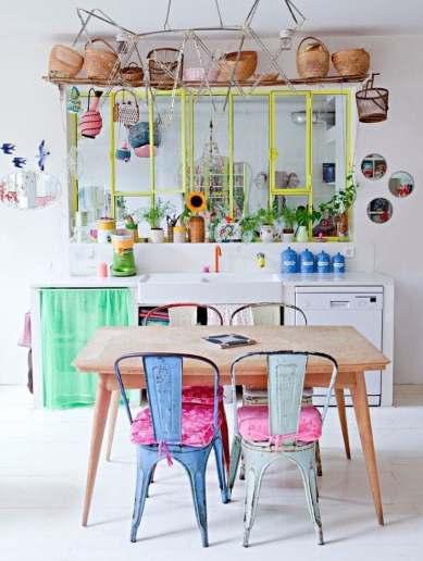 Petite cuisine colorée décoration