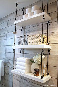 Rangement étagères pour petite salle de bain