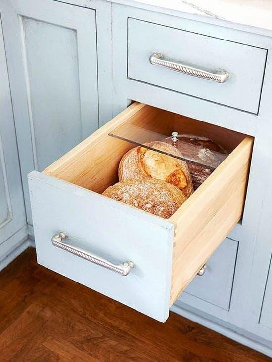 Idées rangement pain petite cuisine