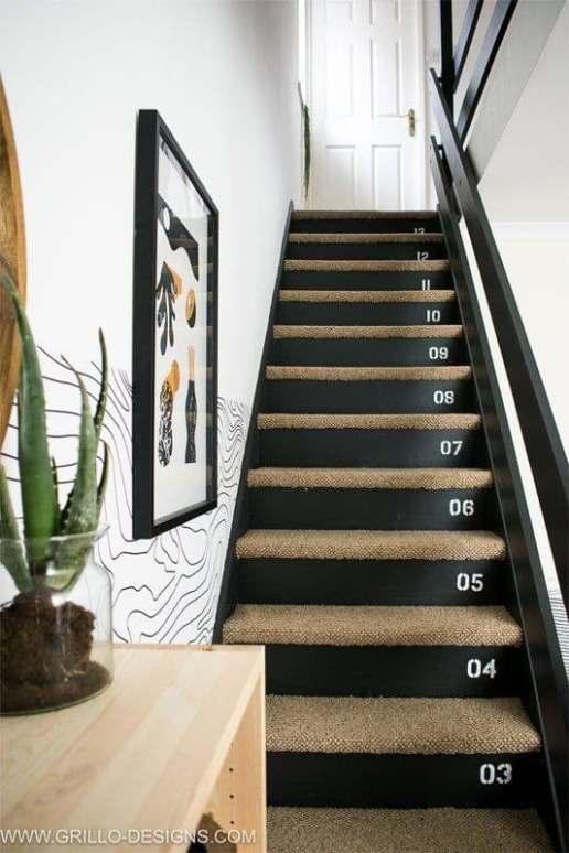 Relooker escaliers noir et bois