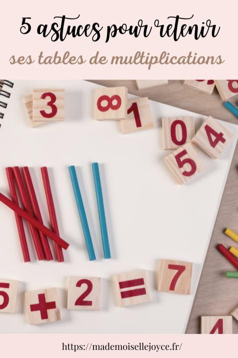 Retenir ses tables de multiplications facilement enfant